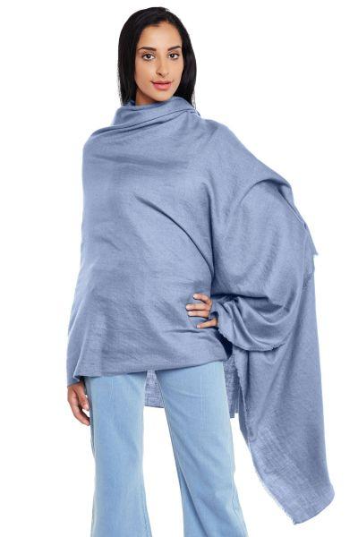 CashmerePashmina Blue Jalidaar Handwoven Pashmina Shawl
