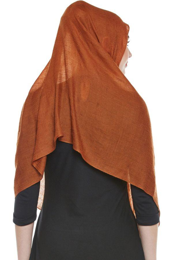 Brown Pashmina Hijab | Handmade Cashmere Head Scarf