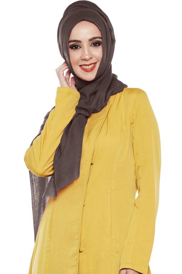 Coffee Brown Pashmina Hijab | Handmade Cashmere Head Scarf