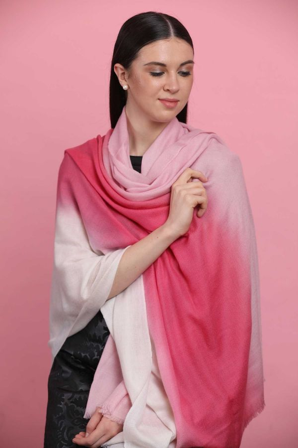 Hues Of Pink Ombre Pashmina Shawl