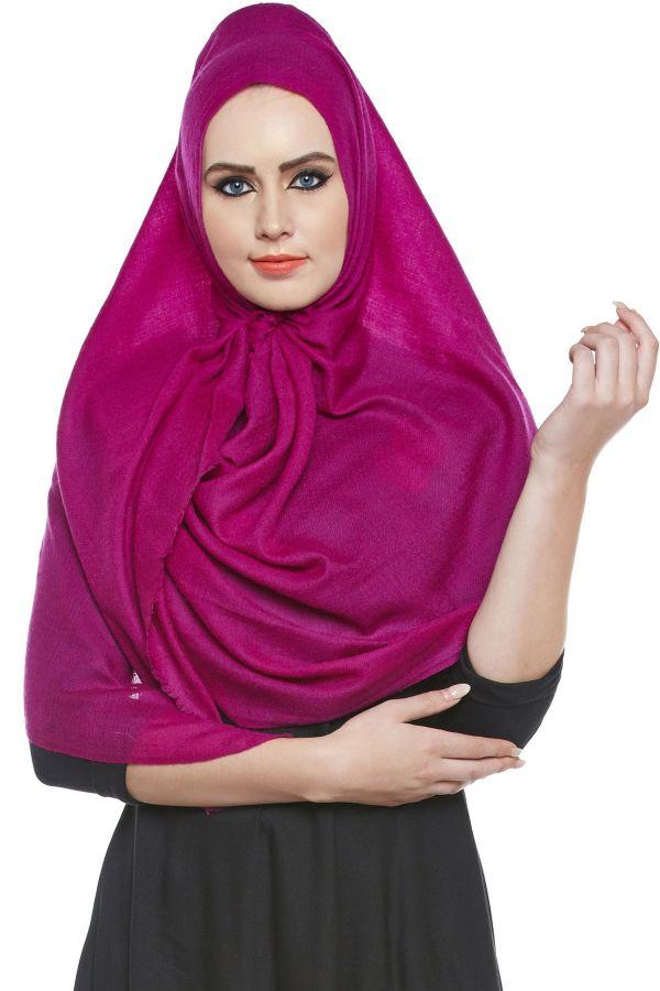 Magenta Pashmina Hijab | Handmade Cashmere Head Scarf