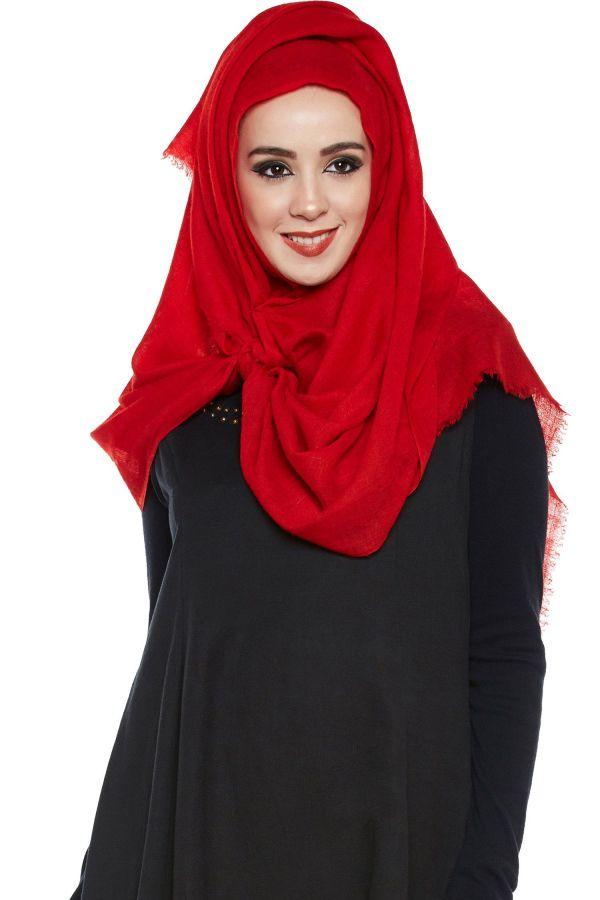 Maroon Pashmina Hijab | Handmade Cashmere Head Scarf