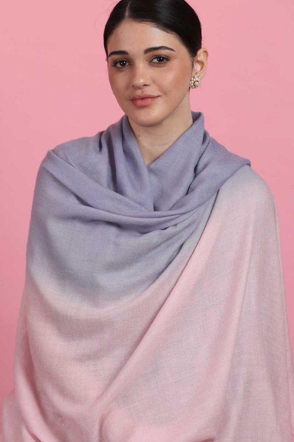 Pastel Shades Ombre Pashmina Shawl