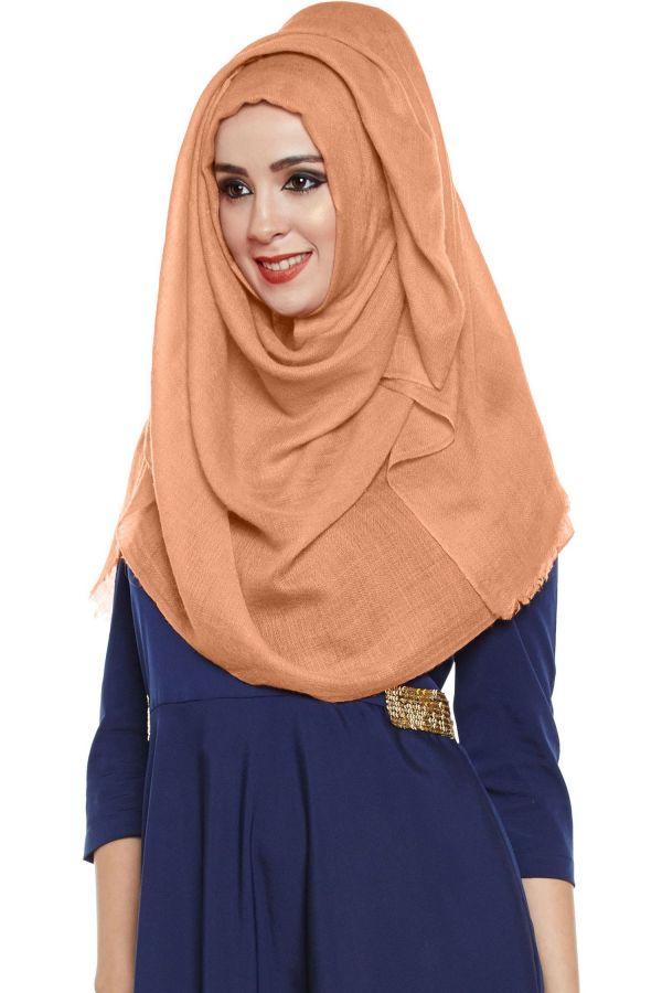 Peach Pashmina Hijab | Handmade Cashmere Head Scarf