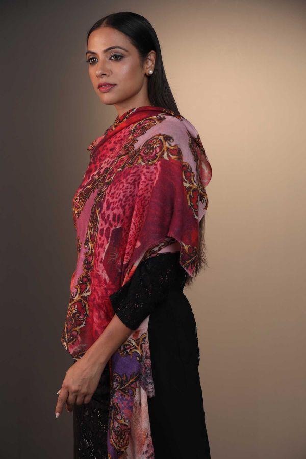 Prism Of Flowers Cashmere Wrap | Pure Pashmina