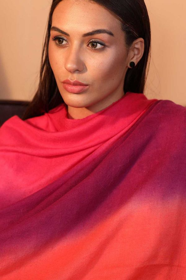Rainbow Ombre Pashmina Shawl