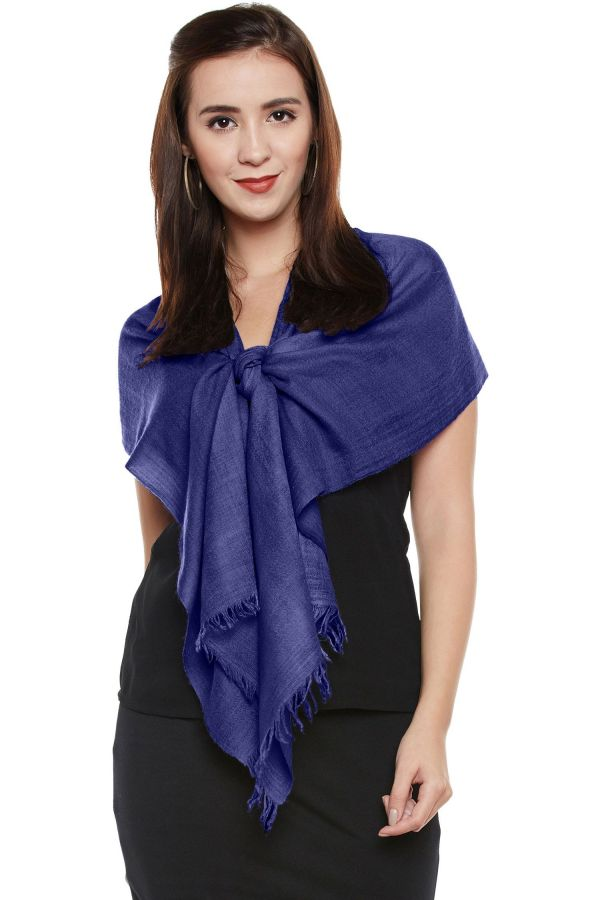 Royal Blue Cashmere Scarf | Pure Pashmina
