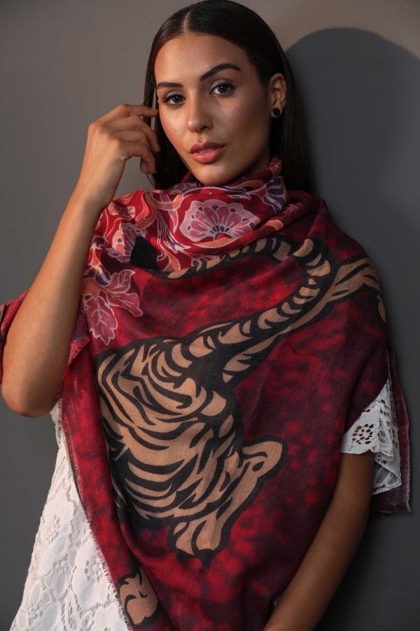 Songs Of The Fauna Cashmere Wrap | Pure Pashmina