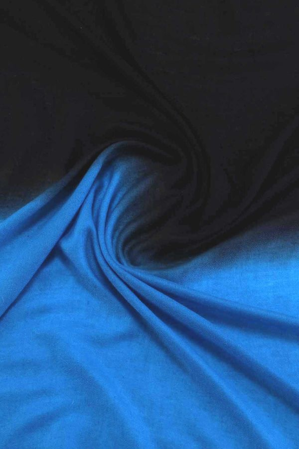 Black And Blue Ombre Pashmina Shawl