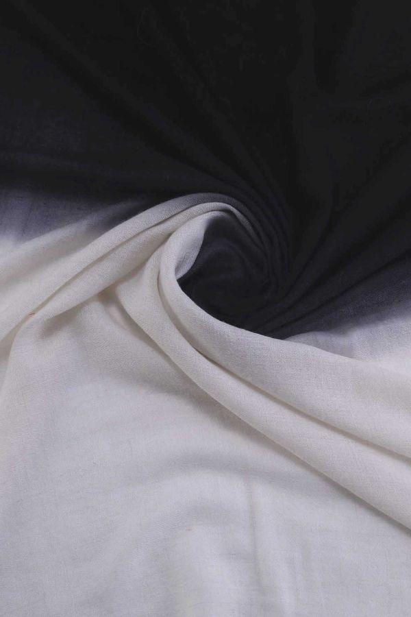 Black And White Ombre Pashmina Shawl