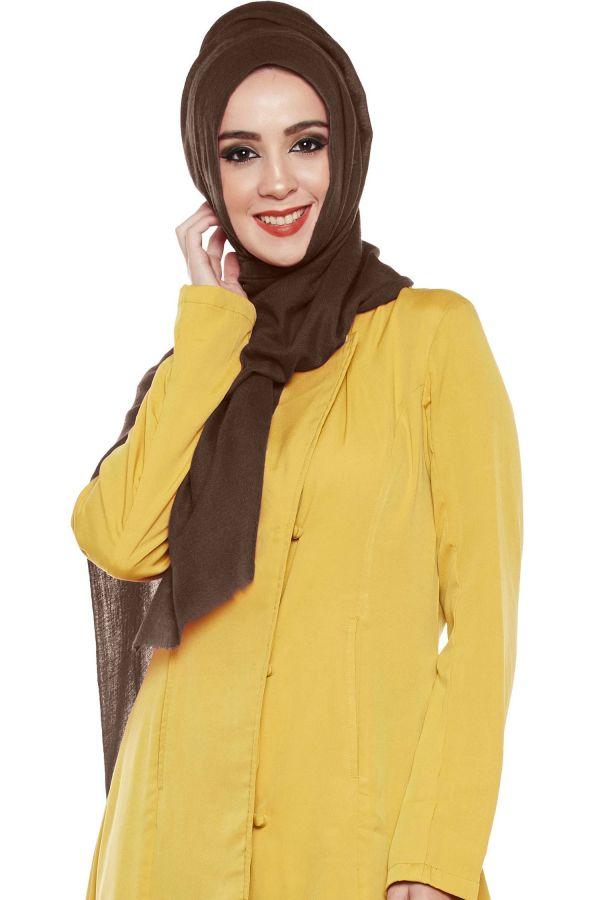 Cappuccino Brown Pashmina Hijab | Handmade Cashmere Head Scarf