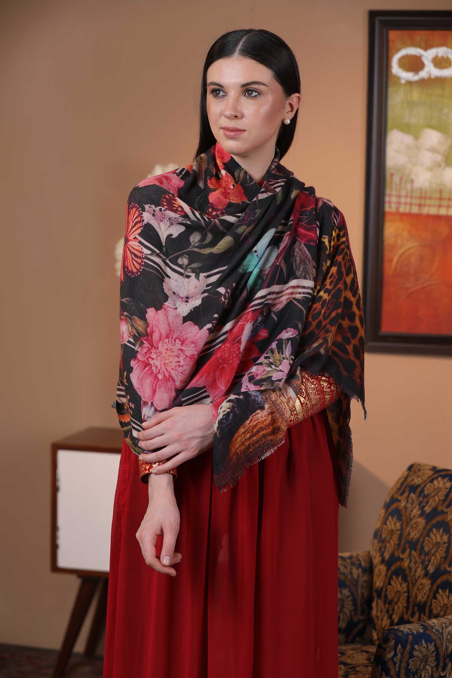 Floral Moments Cashmere Wrap | Pure Pashmina