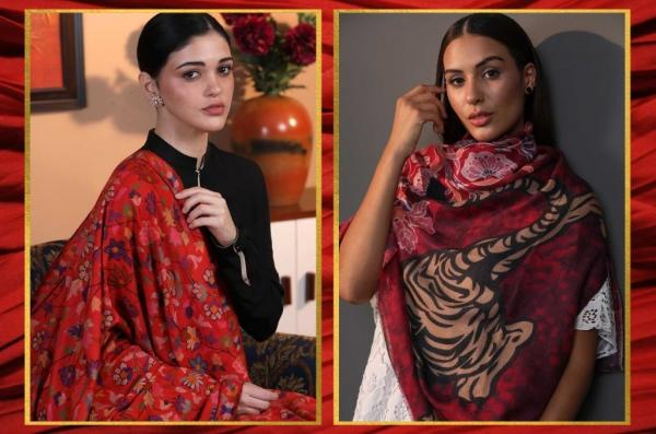 Red Pashmina Shawl - Paint the Town Red